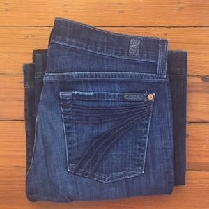 (7 for all mankind) dojo jeans 29 x 31